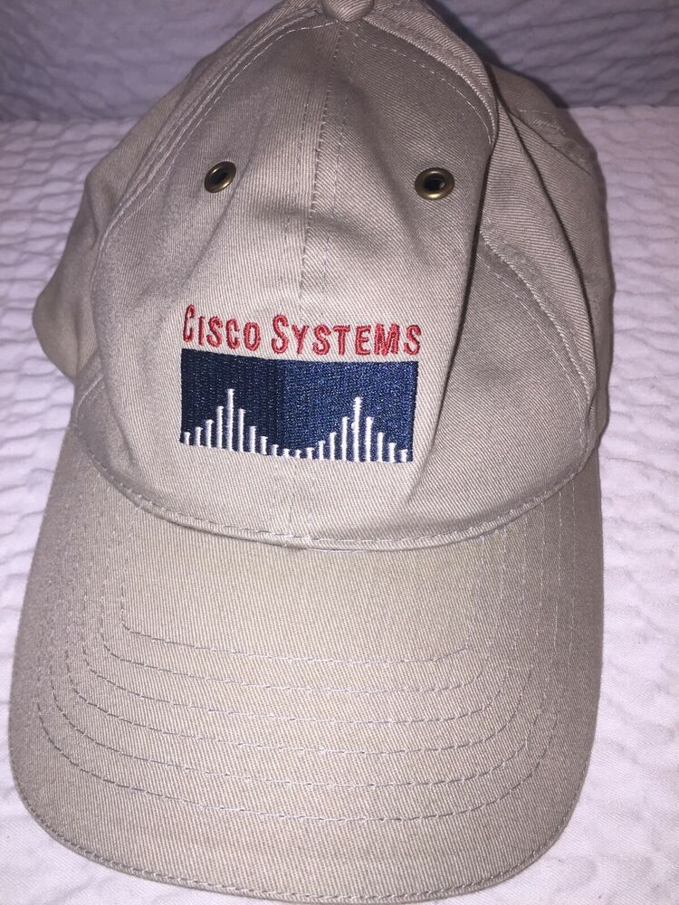 2fcb5875c Cisco Systems Embroidered grey Baseball Cap Hat Adjustable Cotton ...