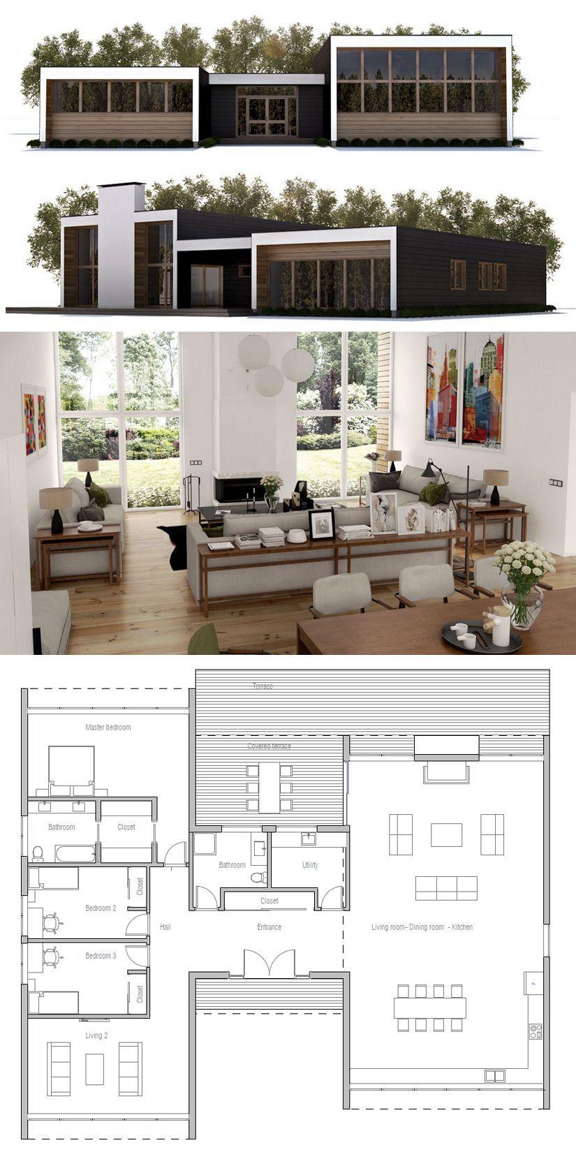 Planta De Casa Small House Plans Container House Plans
