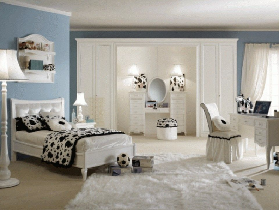 Teenage Bedroom Designs Beauteous Teenage Girls Bedroom Decorating Idea With Fancy White