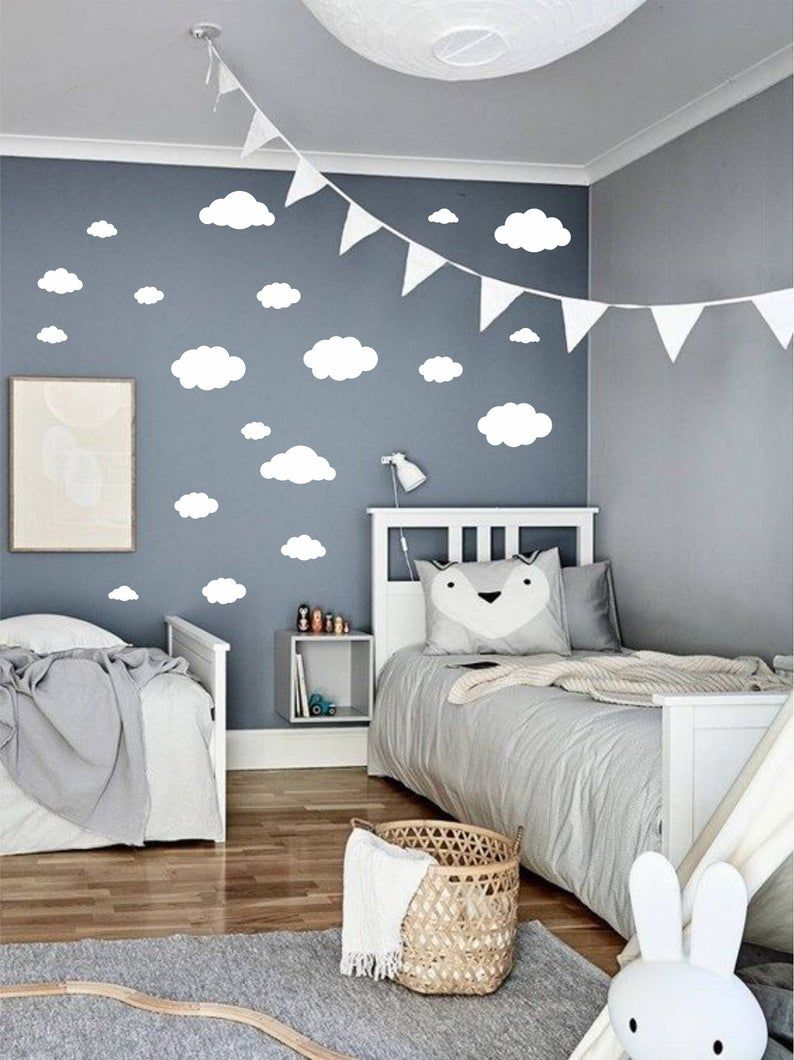 Baby Jungen Zimmer Ideen Cloud Wall Decals, Cloud Decals, Cloud Wall Sticker, Cloud Stickers, Tiny Clouds Wall Decals, Set Of Clouds Wall Decal, Clouds Wall Decals | Jungen Schlafzimmer Dekor, Kinder Zimmer, Babyzimmer Wandgestaltung