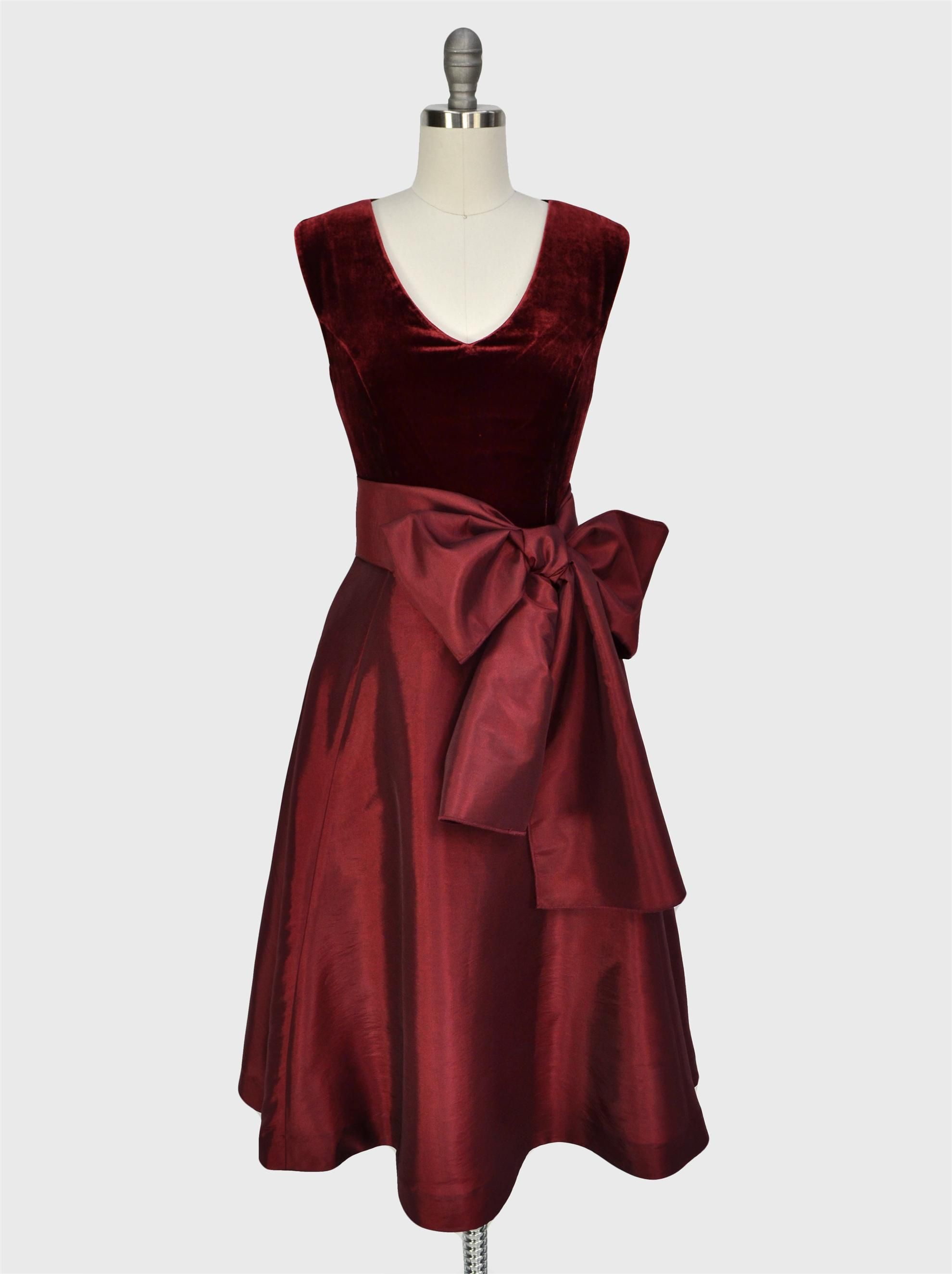cheap for sale professional high quality Glamorous Velvet and Taffeta Cocktail Dress | Clothes for ...