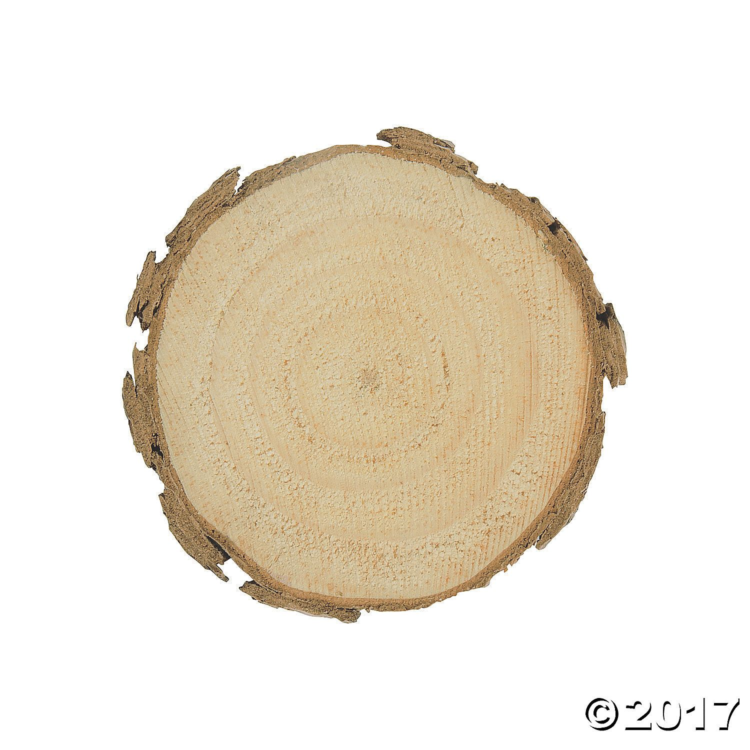 Unfinished wood slices large orientaltrading islip party