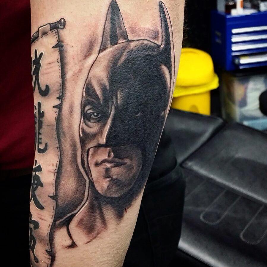 nice 40 Cool Batman Tattoo Designs for Men -  A Supercharged Style Check more at http://stylemann.com/best-batman-tattoo-ideas/
