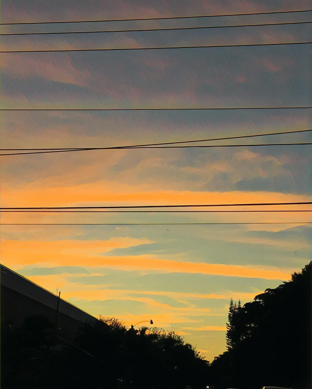 #sunset #nature #naturelovers #stripes #skypainters #patterns #textures #paint #painting #orange #prisma