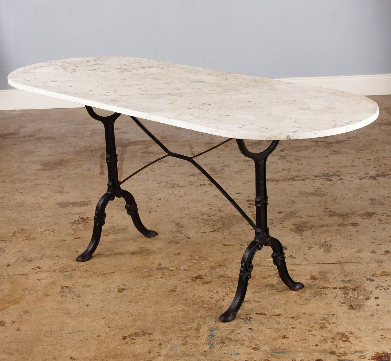 French oval dining table - Effigy Of Marble Top Bistro Table For Home Or Cafe