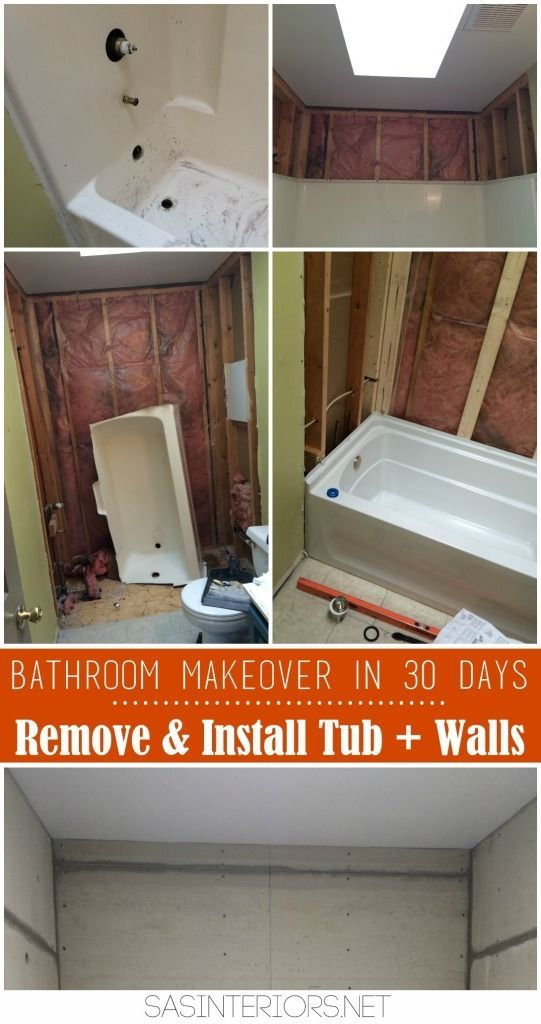 Bathroom Makeover in 30 Days CHALLENGE! Day 2-4 Removing of the ...
