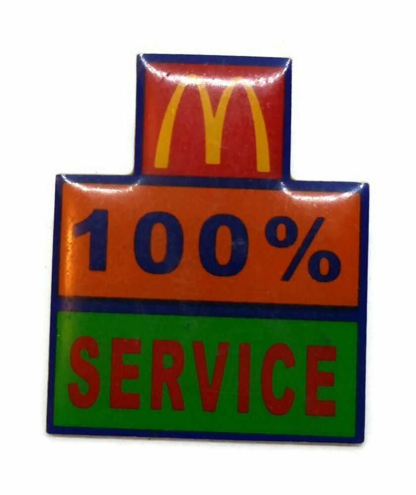 Mcdonald S Hat Pins: McDonald's 100% Service Gold Tone Lapel Hat Pin In 2019