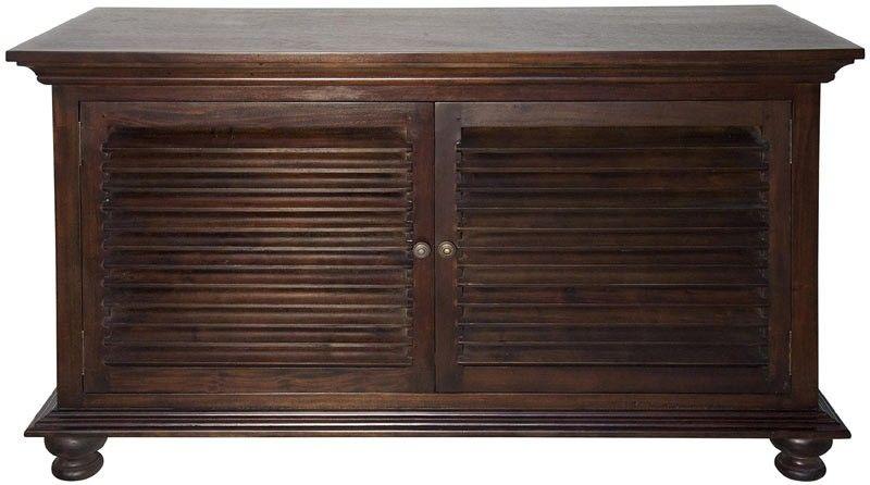 Noir Furniture Shutter Buffet Hand Rubbed Brown Clearance Z