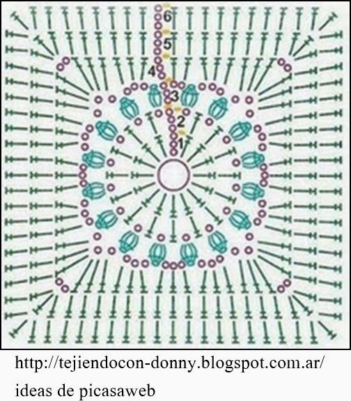 Granny - Manta Para Bebe Tejida A Crochet