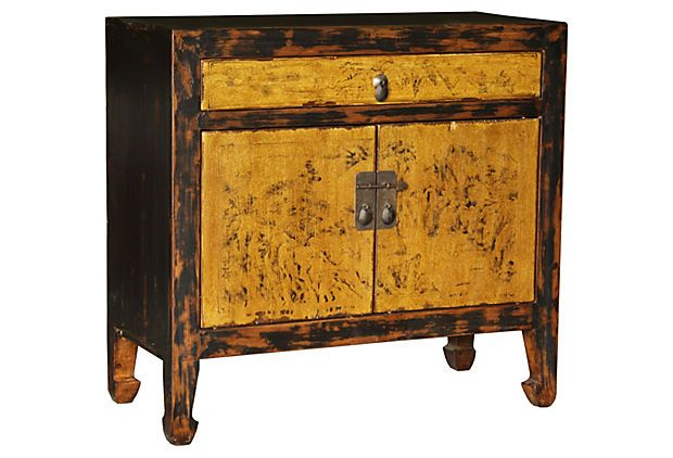 Distressed Scenic Accent Side Table On OneKingsLane.com