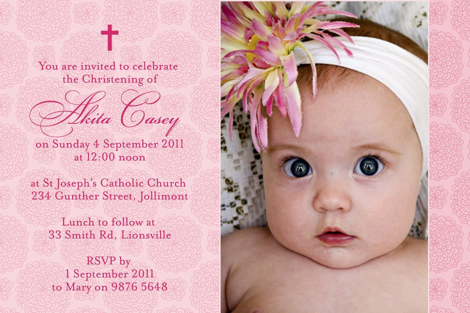 Free Baptism Invitation Templates Awesome Christening ...