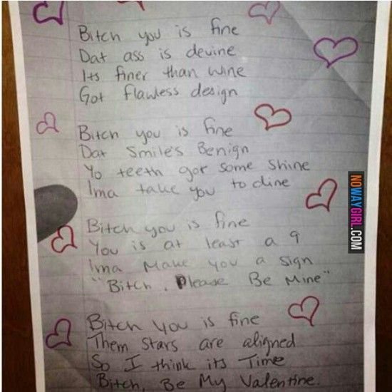 Ghetto Valentines Day Poem Humor Funny Tumblr Funny Hilarious