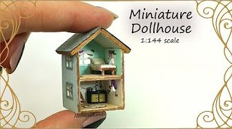 Miniature Haunted House Tutorial // DIY Dolls/Dollhouse #dollhouseminiaturetutorials