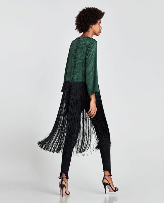 Zara grunes langes kleid