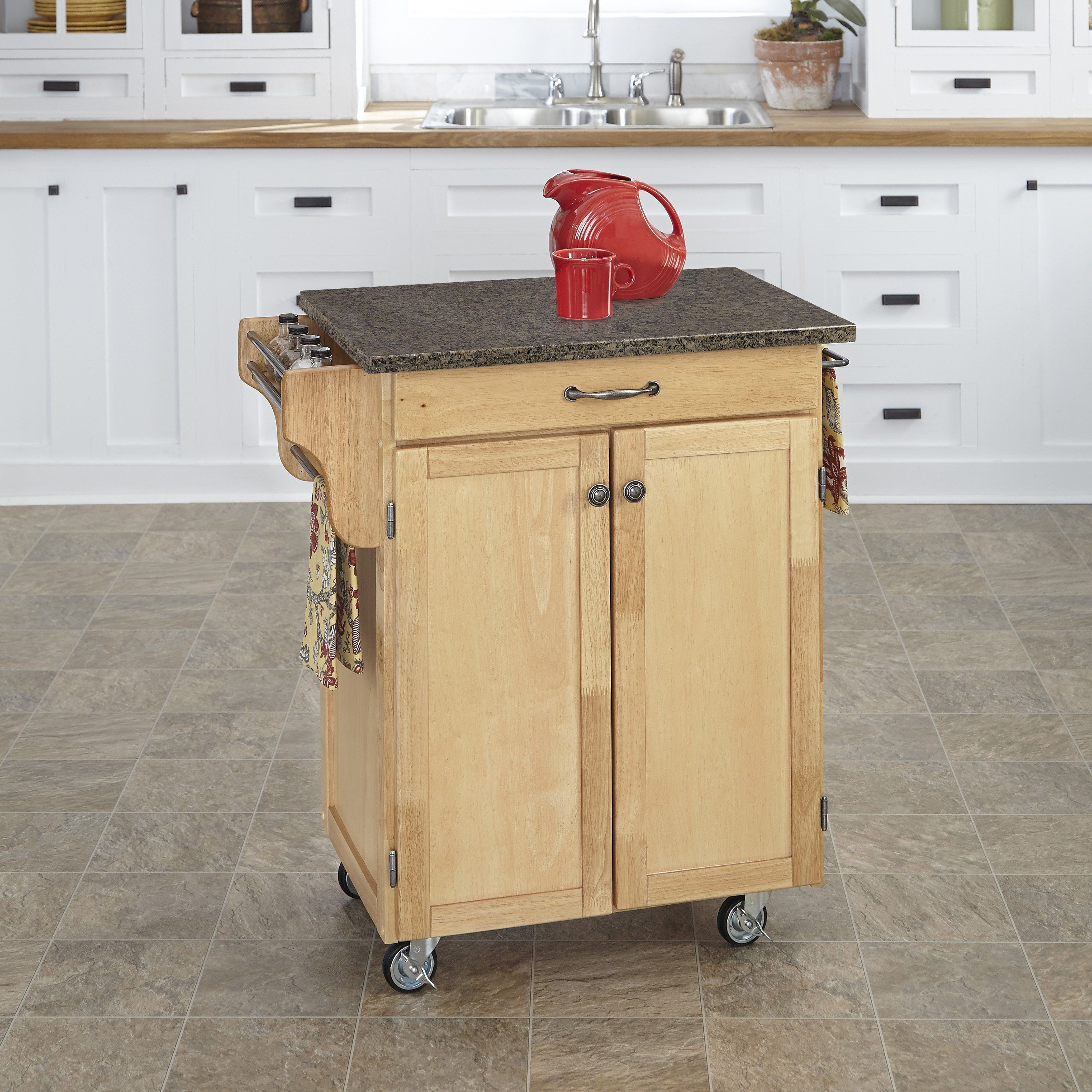 Best Home Styles Cuisine Cart 34 75 In Portable Kitchen Cart 400 x 300