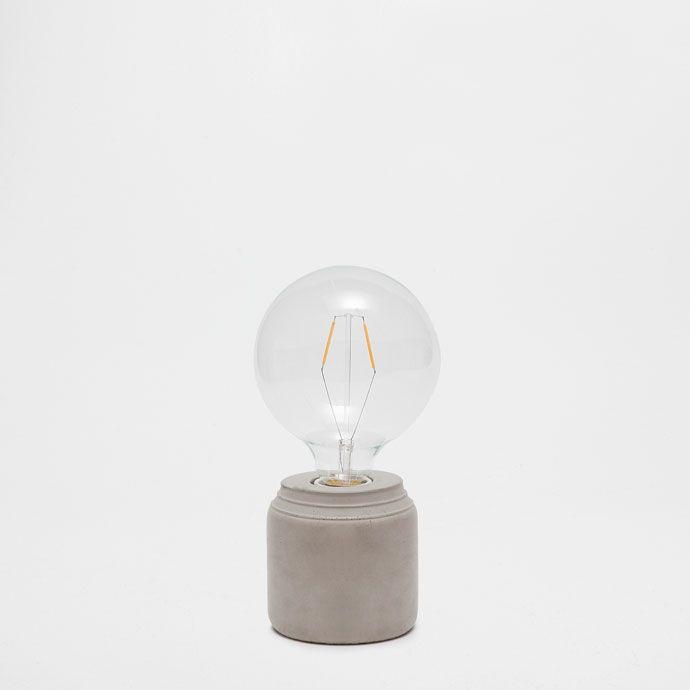cement bulb lamp lamps decoration zara home suomi finland myym l tila pinterest. Black Bedroom Furniture Sets. Home Design Ideas