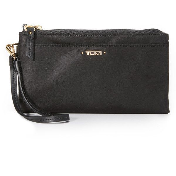 Tumi Double Zip Wallet ($95) ❤ liked on Polyvore featuring bags, wallets, double zipper wallet, tumi bags, tumi, double zip bag and double zipper bag