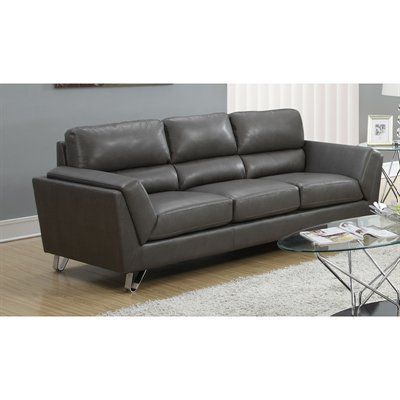 Monarch Specialties I 8203 Bonded Leather/Match Sofa