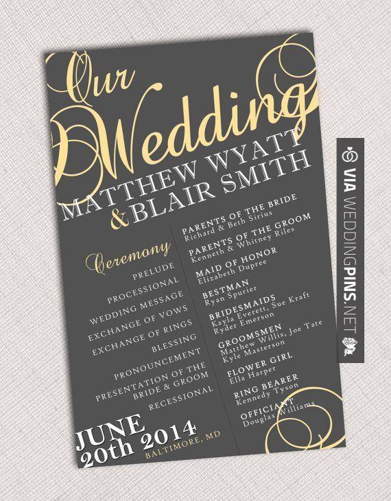 sweet wedding quotes for invitations wedding program on etsy