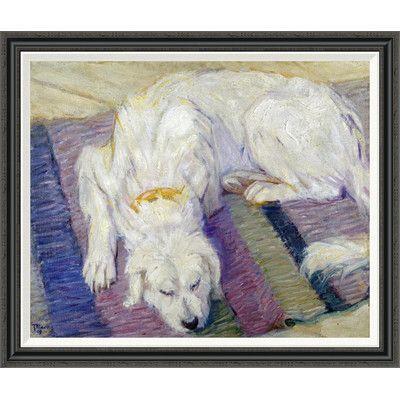 global gallery 'liegender hund (hundeportrat)'franz