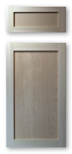 Shaker Style Inset Recessed Panel Cabinet Door Poplar