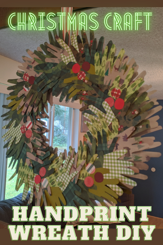Christmas Crafts Paper Decorations- Handprint Wreath