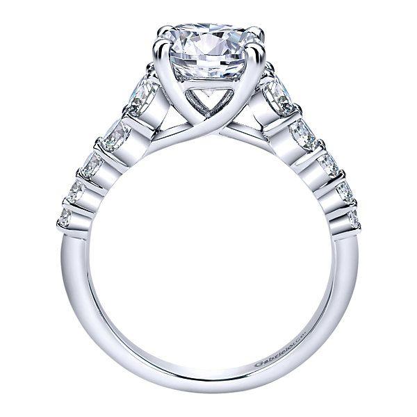 14k White Gold Diamond Straight Engagement Ring   Gabriel & Co NY   ER11757R6W44JJ