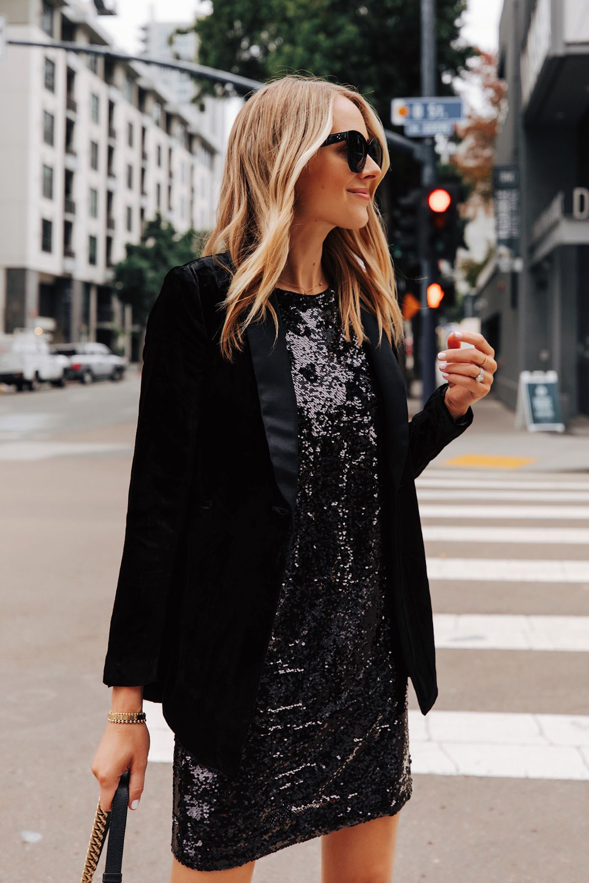 Fashion Jackson Wearing Walmart Black Velvet Blazer Black Sequin Dress 1 Fashion Jackson Fashion Fashion Outfits [ 1800 x 1200 Pixel ]