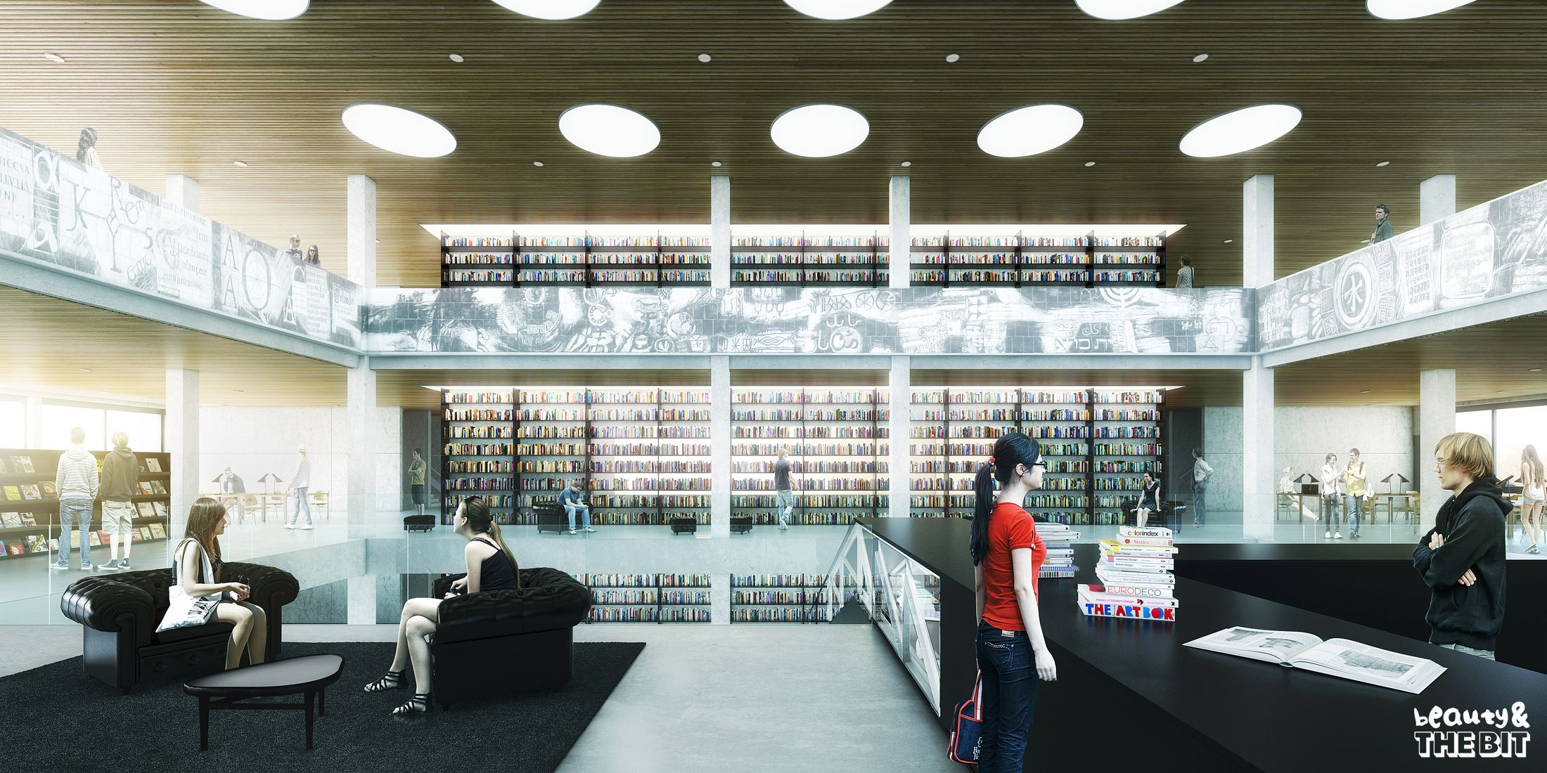 Erasmus University Library Competition Netherlands KAAN Architecten 2013