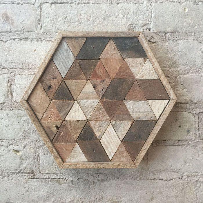 Holzkunst Kreative Wandgestaltung Wanddeko Ideen Holz Verkleidung Beton HOLZ