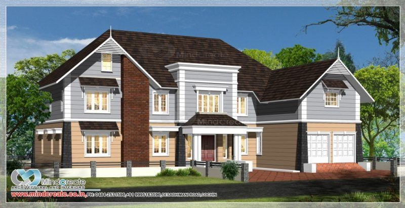 European Type Home Plans Europeantypehomesplans Keralahomeplans Architectskerala Builderskerala Constructionmaterial Model Homes House Plans House Styles