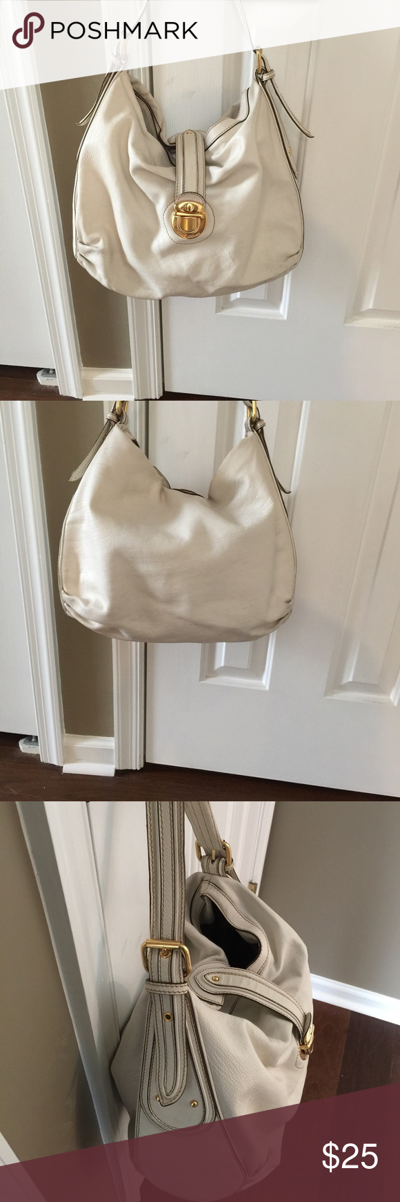 White leather Marc Jacob bag Comes with dust bag - used Marc Jacobs Bags Shoulder Bags