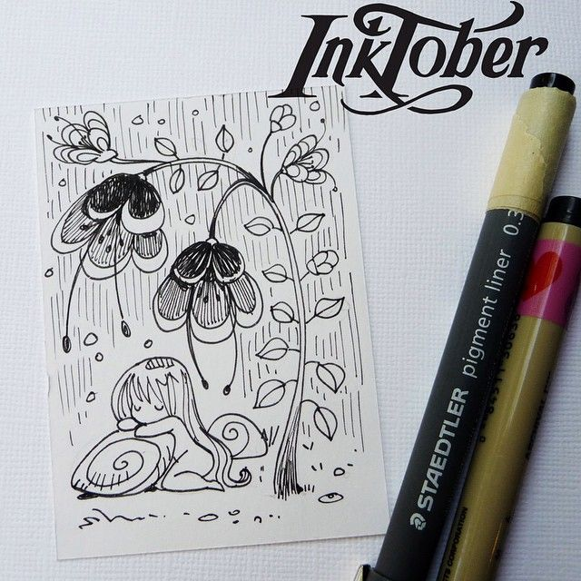 #inktober day24 - #aceo #blackandwhite #instaartist #illustration #drawing