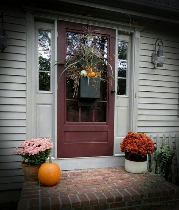 Claret Wine} The new front door color we finally decided on for ...