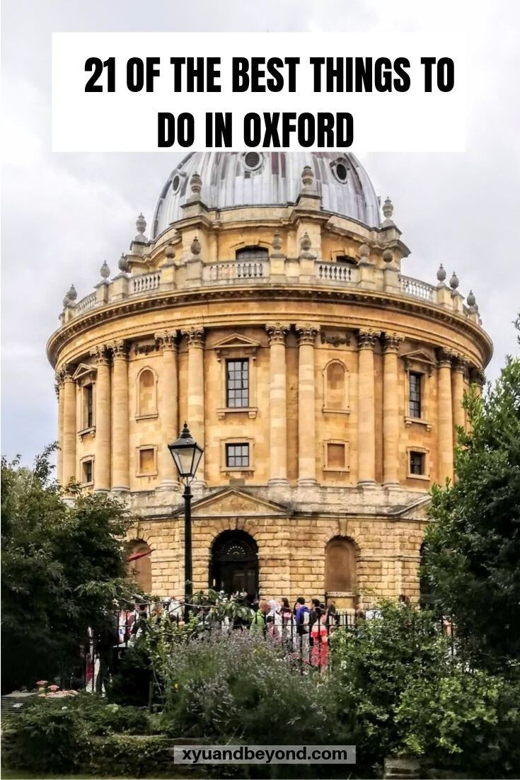 undefined Looking for things to do in Oxford if you are only there for a day Here are 21 spots to visit Harry Potter Discovery of Witches sites great pubs and more