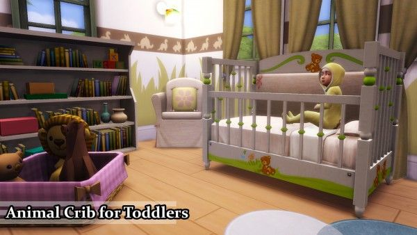 Enure Sims Animal Crib For Toddlers O Sims 4 Downloads