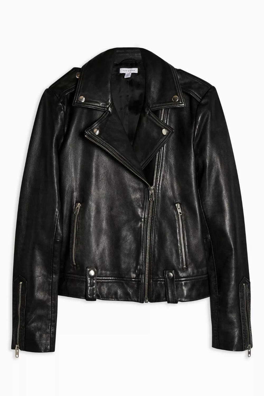 Real Leather Biker Jacket in 2020 Biker jacket, Trendy