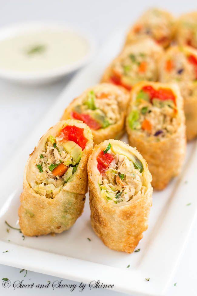 Chicken Avocado Egg Rolls Recipe Food And Recipes Pinterest