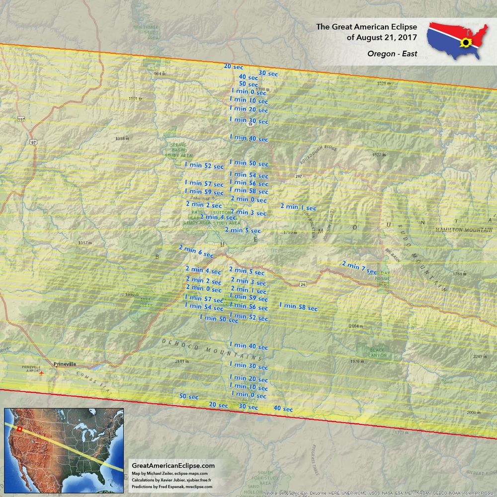 Oregon Eclipse Map 2017.Total Solar Eclipse Of 2017 Over Oregon The Oregon Eclipse Will