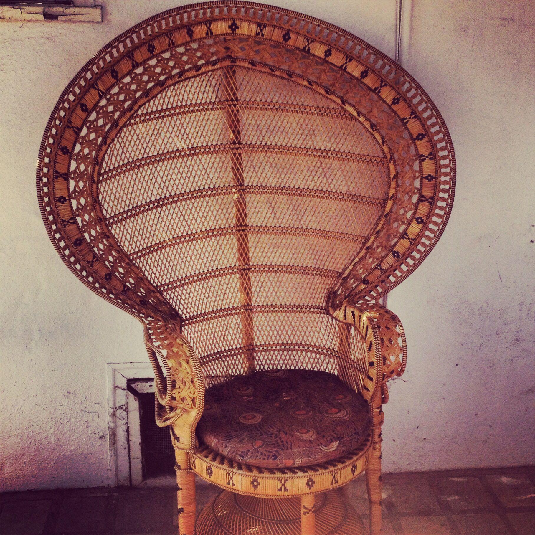 My Very Own Wicker Fan Chair!