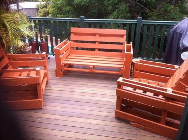 Pallet outdoor furniture plans bricolaje muebles de - Muebles exterior palets ...