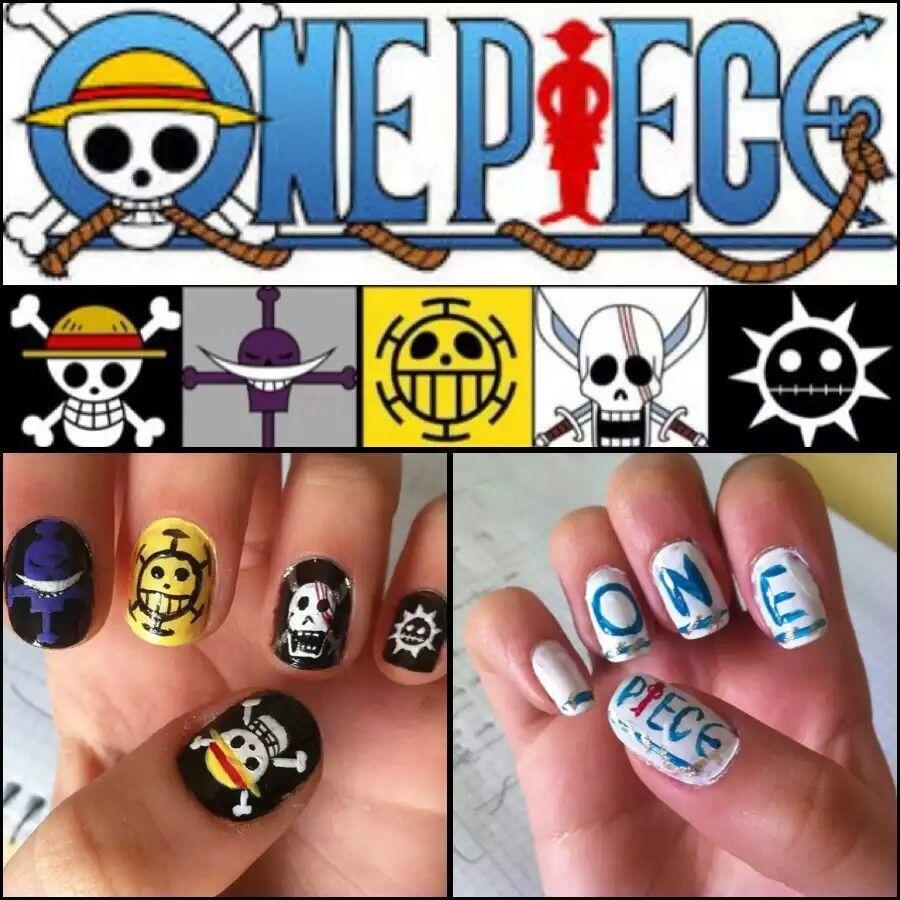 One piece nail art | ☀Anime Nail Art☀ | Pinterest