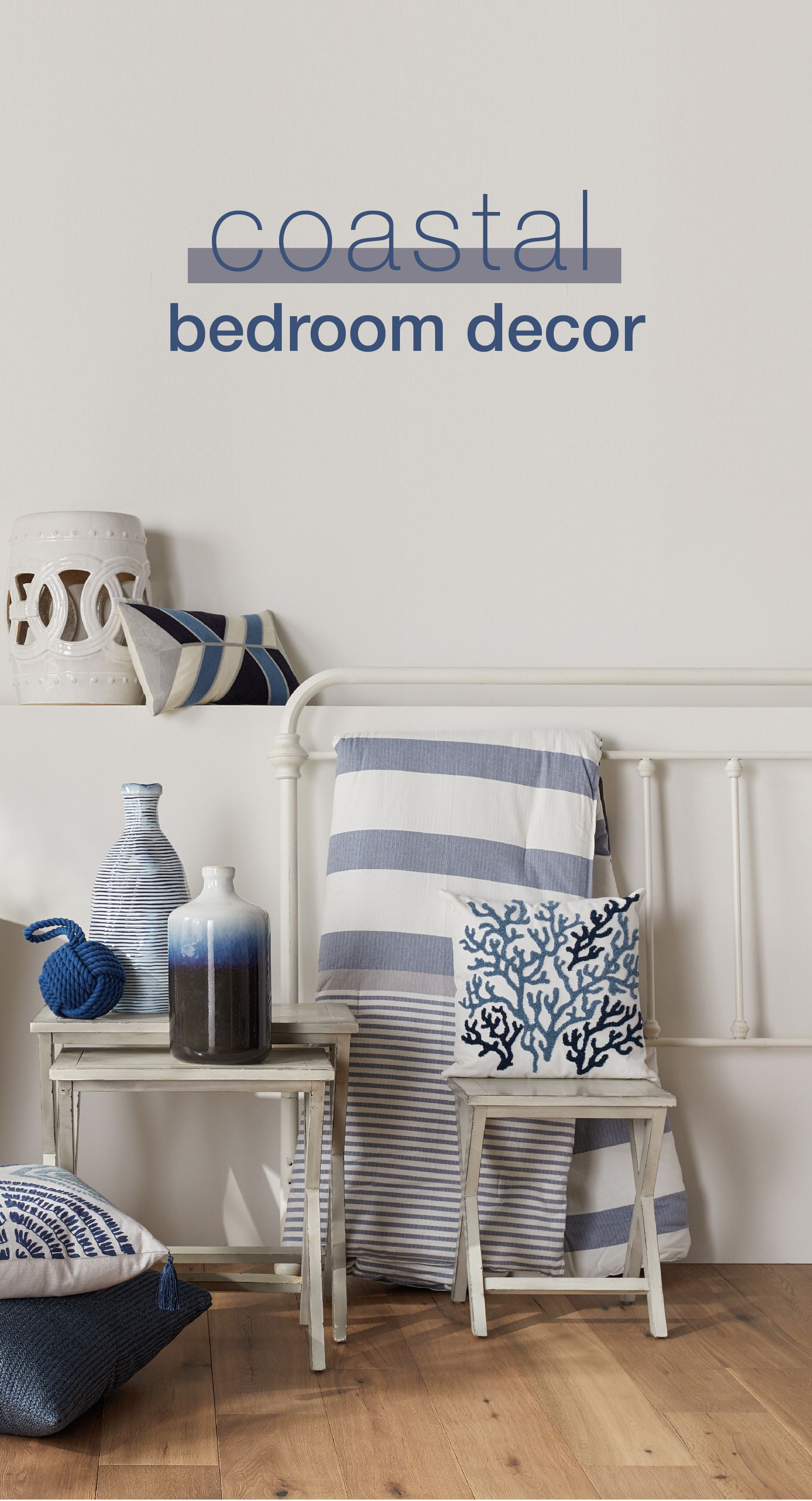 Give your bedroom a relaxing Coastal makeover with