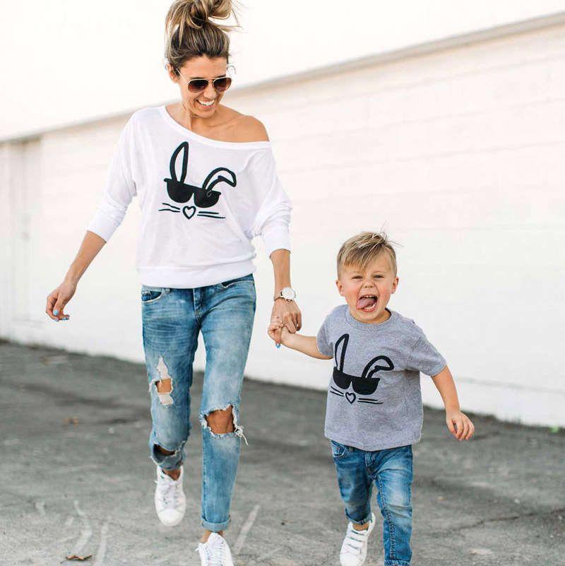 Beliebt Tee-shirt MON LAPIN | Mère fils, Tenues assorties et Mini moi QZ38