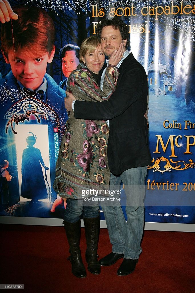 Emma Thompson and Colin Firth during 'Nanny McPhee' Paris Premiere at UGC Cine Cite Bercy in Paris, France.