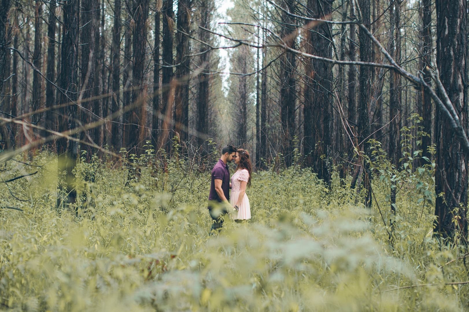 Engagement Shoot in the woods -Brook Adams