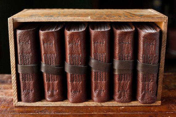 Leather Journal Box Set  The Kingsford Box Set  by wayfaringart, $300.00