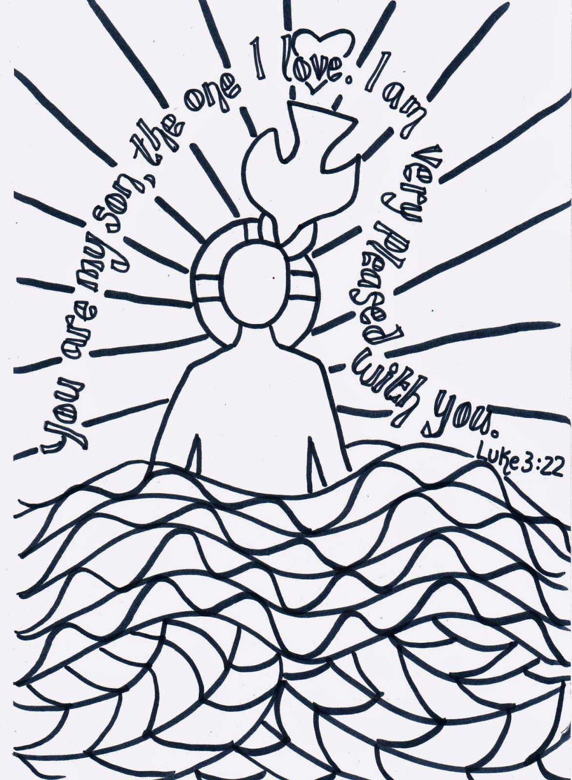Childrens christian valentine coloring pages - Flame Creative Children S Ministry Reflective Colouring The Baptism Of Jesus Kidmin