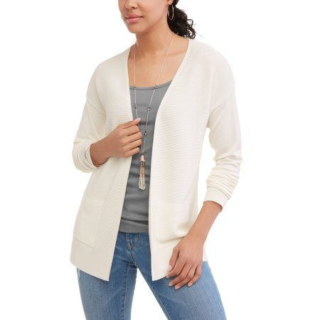 5db3a501a399 Time and Tru Women s Open Front Cardigan