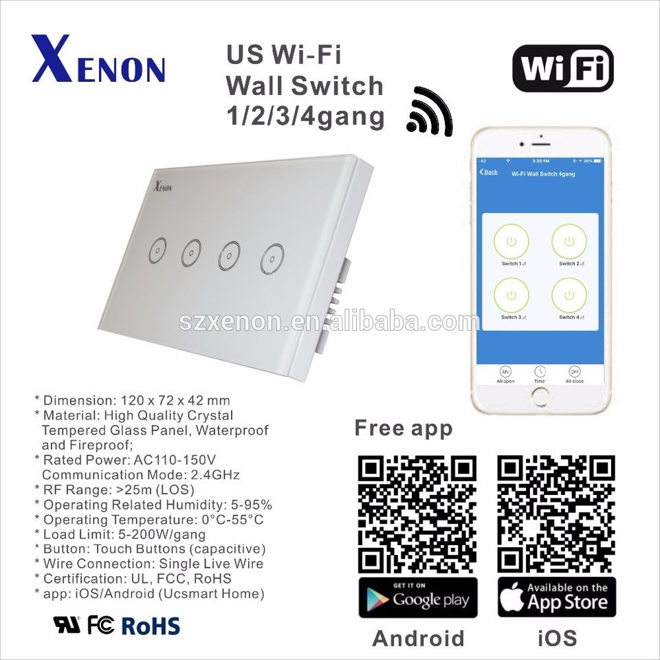 Xenon Works With Amazon Alexa Wifi Wall Switch Light Power Relay How It Controller Box Plug Smart Home Usa Soft